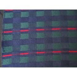 tissu ecossais bleu le clan renault 4L largeur 150cm