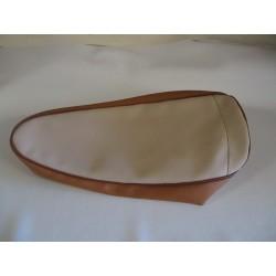 garniture (coiffe de selle) simili biton beige/caramel motobecane av 89