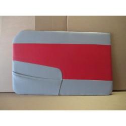 ensemble 4 panneaux de portes simili bitons rouge/gris peugeot 403 berline