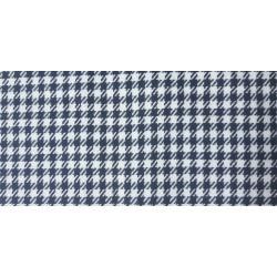 tissu pied de poule blanc/noir largeur 145cm