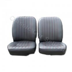 ensemble 2 garnitures sièges avant cuir noir sans appuis tête jaguar type E