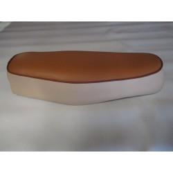 coiffe de selle simili beige/caramel motobecane SP50