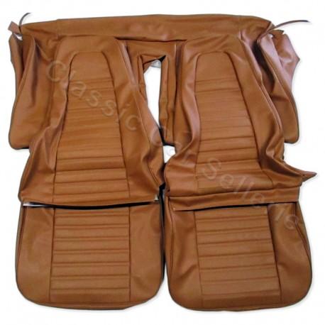 ensemble garnitures sièges complets simili caramel(amello) renault 12TS phase 1