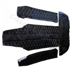 kit 4 éléménts habillage intérieur simili noir alpine A110 1300/1600S