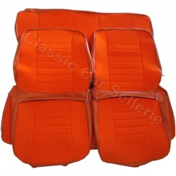 ensemble garnitures sièges complets velours orange/simili orange renault 5 TL phase 1 année 1972/79