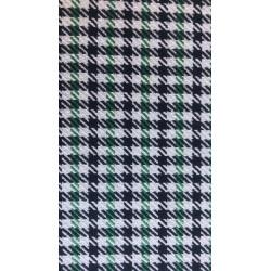 tissu pied de poule pepita vert largeur 145cm