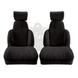 Ensemble de 2 garnitures de sièges av tissu noir R5 TURBO2