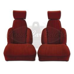 Ensemble de 2 garnitures de sièges av tissu rouge R5 TURBO2