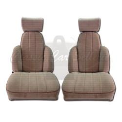 Ensemble de 2 garnitures de sièges av tissu beige R5 TURBO2