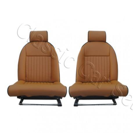 Ensemble 2 garnitures de sièges AV TRIUMPH SPIT FIRE MK4 1500 SKAI CAMELLO