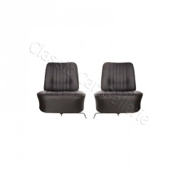 ensemble de 2 garnitures de sièges complet av simili noir Renault caravelle