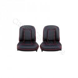 Ensemble 2 garnitures de sièges AV ALFA ROMEO GIULIETTA SPRINT 1964 SKAI NOIR