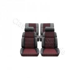 ensemble garnitures de sièges complet cuir anthracite/ tissus quartet peugeot 205 GTI