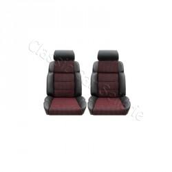 ensemble 2 garnitures de sièges avant 205 gti/cti cuir anthracite/tissu quartet