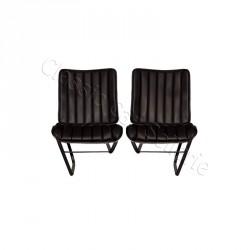 Ensemble garnitures de sièges avant noir 1er modèle Citroen HY