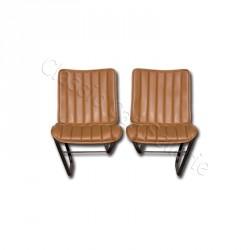 Ensemble garnitures de sièges avant marron 1er modèle Citroen HY