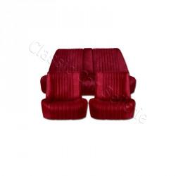 Ensemble garnitures de sièges complet velours rouge Citroen DS