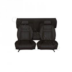 Ensemble garnitures de sièges complet simili noir pour Peugeot 504 coupé