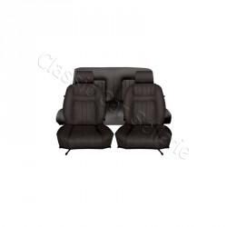 ensemble garnitures de sièges complet simili noir pour peugeot 504 cabriolet