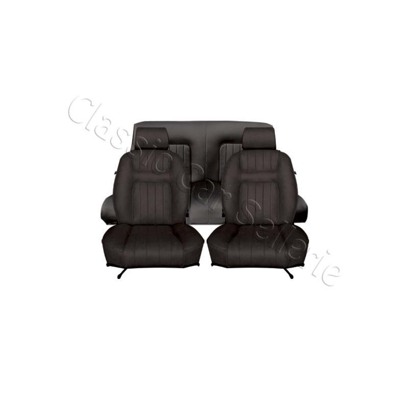 ensemble garnitures de si ges complet simili noir pour. Black Bedroom Furniture Sets. Home Design Ideas