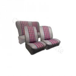 Ensemble garnitures de sièges complet av/ar tissu écossais Renault 4L NM