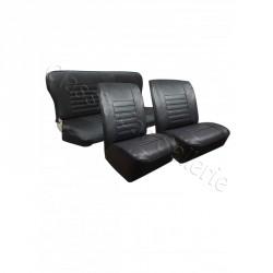 Ensemble garnitures de sièges complet av/ar simili noir Renault 4L NM