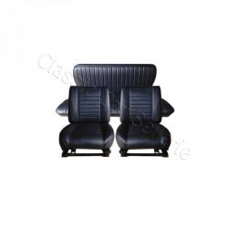 ensemble garnitures de sièges complet simili noir rodeo 5