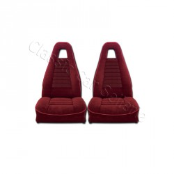 ensemble garnitures de sièges complet av/ar tissu rouge R5 ALPINE PHASE1