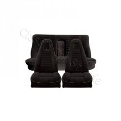 ensemble garnitures de sièges complet tissu noir côtelé R12 TS PHASE 2