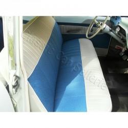 ensemble garnitures complet tissus bleu/simili gris simca ariane
