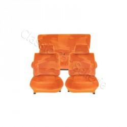 ensemble de garnitures de sièges complet tissus orange simca 1100 LX