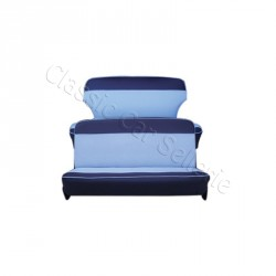 ensemble garnitures complet skaï 2 tons bleu simca aronde