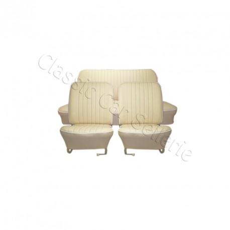 ensemble garnitures de sièges complet simili crème ww coccinelle berline 58/64 (CE)