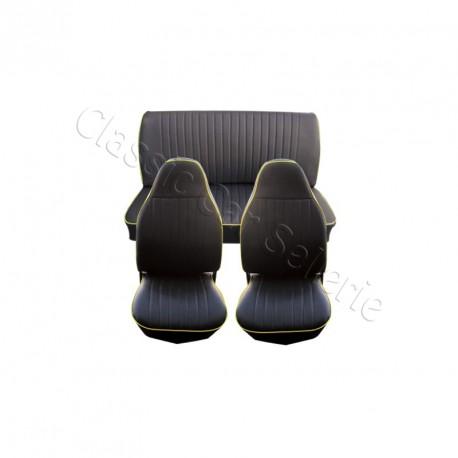 ensemble complet garnitures de sièges ww coccinelle simili noir berline 73 (US)