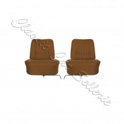 ensemble complet de deux garnitures avant simili caramel Renault floride