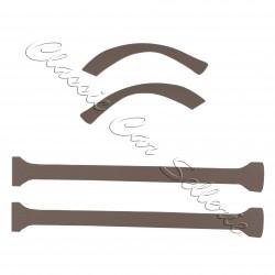 pieds milieu/passage roue ar 4cv tissu gris écorce la paire