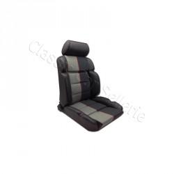 ensemble 2 garnitures sièges avant 205 gti/cti cuir anthracite/tissu ramier