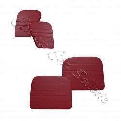 Ensemble 4 panneaux de portes pleins skaï rouge dauphine