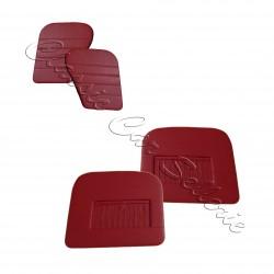 Ensemble 4 panneaux de portes à soufflet skaï rouge dauphine