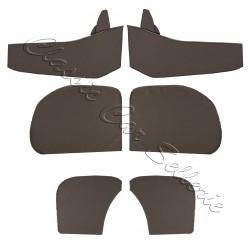 ensemble 4 panneaux de portes tissu écorce gris avec contre panneaux renault 4cv