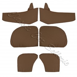 Ensemble 4 panneaux de portes tissu écorce marron avec contre panneaux renault 4cv