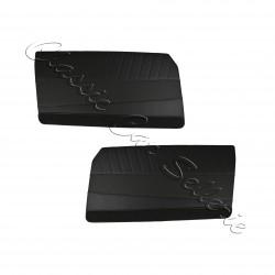 ensemble 2 panneaux de portes avant simili noir 204 coupé/cabriolet