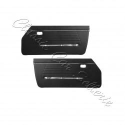 ensemble 2 panneaux de portes avant échange standard en simili noir(négro)