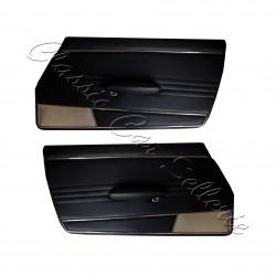 ensemble panneaux de portes avant peugeot 404 cabriolet simili noir