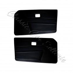ensemble 2 panneaux de portes avant simili noir Triumph TR6