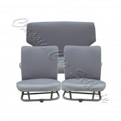 ensemble garnitures de sièges complet tissu écorce gris/skai gris 4cv
