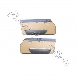 ensemble 2 panneaux de portes avant échange standard en simili caramel(camello)