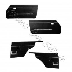 ensemble 4 panneaux de portes échange standard en simili noir(negro)