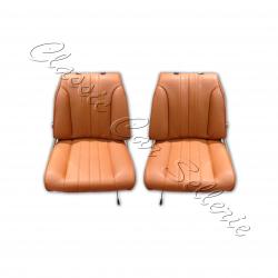 ensemble 2 garnitures sièges avant 304 cabriolet simili marron