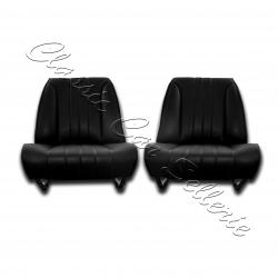 ensemble de deux garnitures de sièges avant simili noir 304 cabriolet